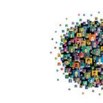 global network of people on screens